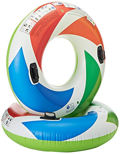 Intex Inflatable Color Whirl Floating Tube Raft w/ Handles (Set of 2) 48in 58202EP