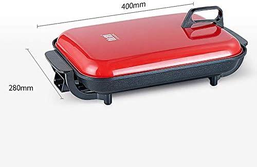 Baking tools Pot de Barbecue Domestique, Multi-Fonction sans fumée Anti-adhésive Hot Pot électrique, Plat de Poisson grillé rectangulaire poêle électrique ZDDAB