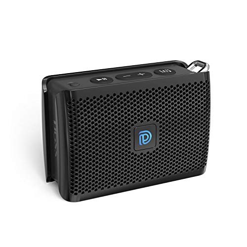DOSS Genie Portable Bluetooth Speaker with Clean Sound, 33ft Bluetooth Range, Built-in Mic, Ultra-Portable Design, Wireless Speaker Compatible for Home, Outdoors, Travel – Black