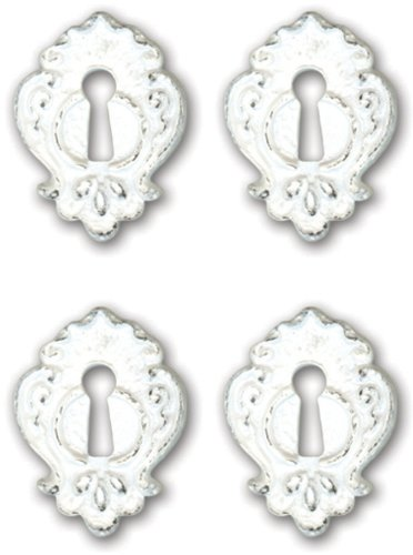 Melissa Frances CX648W Resin Embellishment, Notting hill Key Holes, 0.5 x 0.75 - Melissa Frances Album