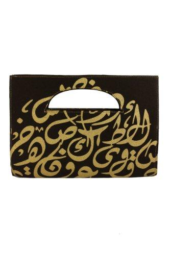Arabic Calligraphy Clutch Cairo (Black)