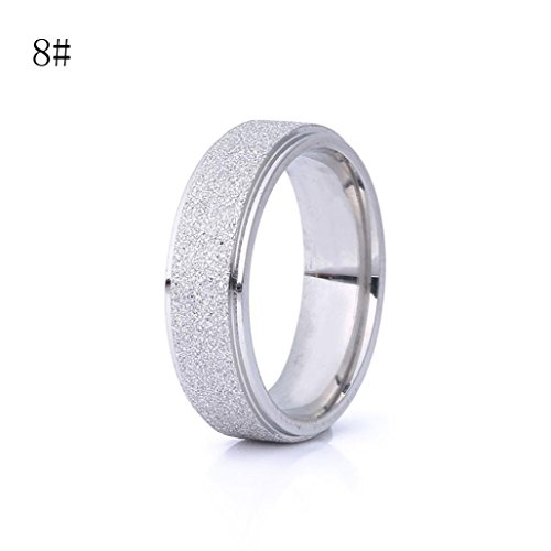 Cut Stainless Steel Bangle (Womens rings,Lamolory Men Wedding Band Ring Stainless Steel Matte Jewelry Couple Gift)