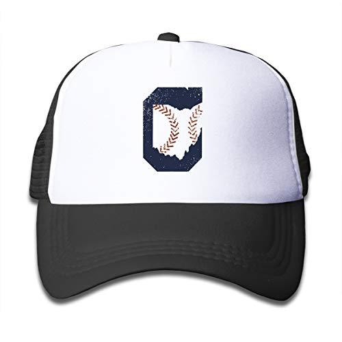 (SFT Kid's Cleveland Ohio Baseball Trucker Baseball Cap Adjustable Mesh Hat Girl Boy)