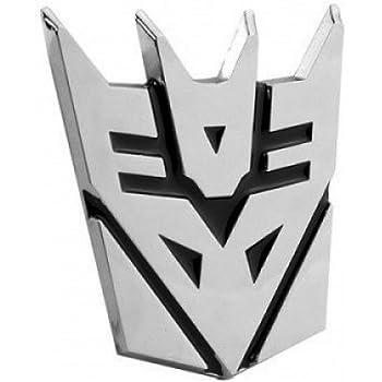 5 Tall,2pack FineFun Autobot Transformers Chrome Finish PVC Car Auto Emblem