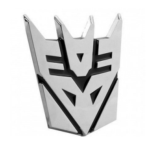 (Transformer Decepticon Chrome Finish Auto Emblem - 5