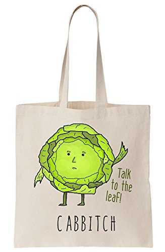 The Bag Girl Showing Illustration Your Tote And Cute Cabbage Talk Leaf Place Cabbitch Sassy Canvas To 8HacZE