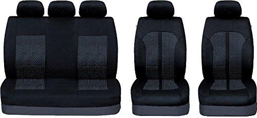 UKB4C Black//Grey Full Set Front /& Rear Car Seat Covers for Mokka 12-On