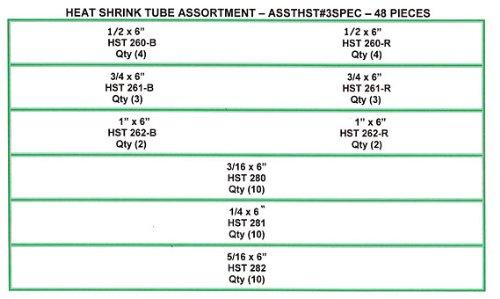 NEF Heat Shrink Tube Assortment, (HST) 48 Pieces
