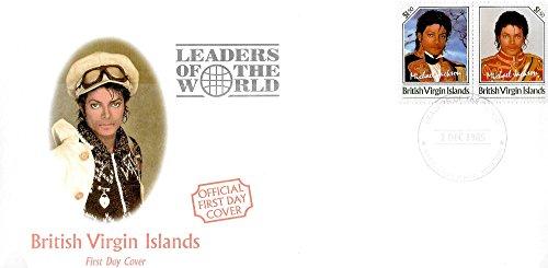 r - Michael Jackson Leaders of the World MNH Pair of Unissued Stamps / British Virgin Islands / 1985 (Virgin Islands Miniature)