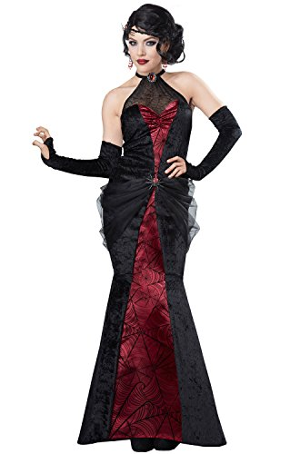 California Costumes Black Widow Gothic Witch Adult Halloween Costume L