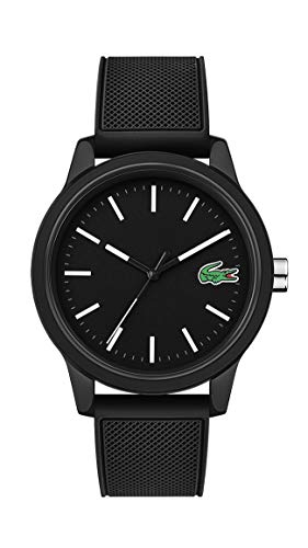Lacoste Men's TR90 Quartz Watch with Rubber Strap, Black, 20 (Model: 2010986) (Watches Lacoste)