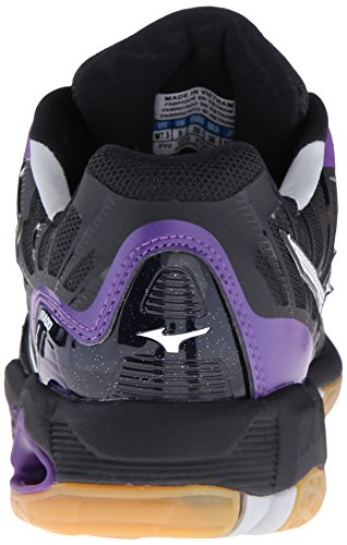 Volleyball Black Mizuno X Wave Purple Women's Shoe Tornado TYTqfnIS8