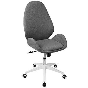 Chaise de bureau Besit Fauteuil Bureau Ergonomique Pivotant Chaise Bureau sans Accoudoirs à Roulettes, Fonction bascule…