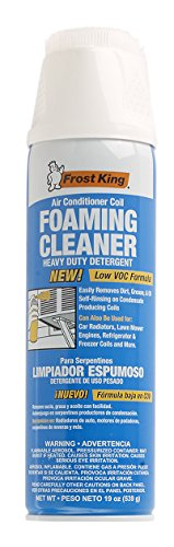 AC-Safe Foam Coil Cleaner - 19 ounce spray aerosol can: Cleans Evaporator and Condesor Coils, Fan Blades, and Reusable Air Filters