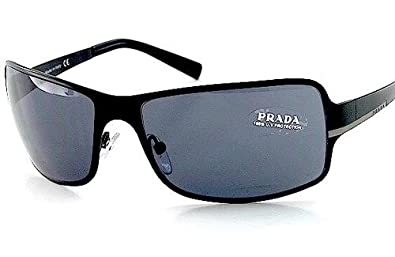a674ae2dd36 Image Unavailable. Image not available for. Color  PRADA SPR60F Sunglasses  GRAY   MATTE BLACK ...
