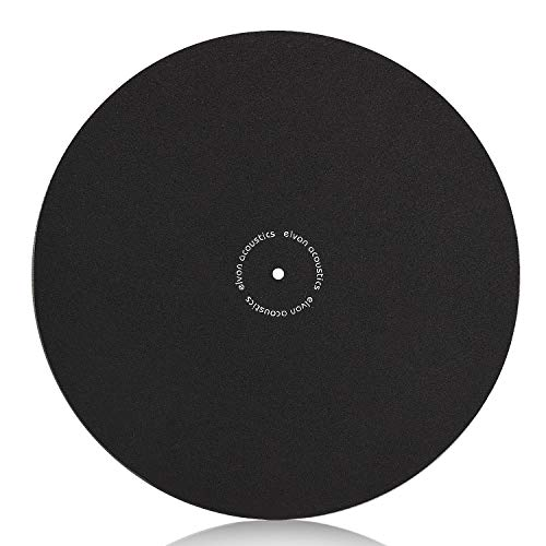 (Turntable Slipmat Anti-Static Wool Mat - 12 inches Phonograph LP Vinyl Record Player Black Mat - Improves Sound & Reduces Noise)
