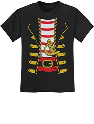 TeeStars - Halloween Pirate Buccaneer Costume Outfit Suit Youth Kids T-Shirt Small Black -