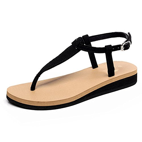 3 PENGFEI Clip US6 EU37 Flat Sandals Female Colors Heel 3 Size Bottom UK5 235 Slippers Beach Summer Toe 3CM 1 5 Simple Height Loafer Color 0rqf1Swrx