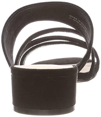 Black Strap BIANCO Donna Nero 10 Sabot Sandal qz8XxU6