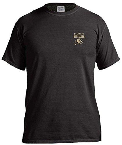 NCAA Colorado Buffaloes Adult NCAA Limited Edition Comfort Color Short sleeve T-Shirt,Medium,Black