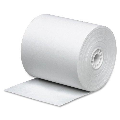 Business Source 31820 Paper Rolls, Single Ply, 2-1/4 x 150', Bond, 3/PK, WE Adding Machine Roll Single