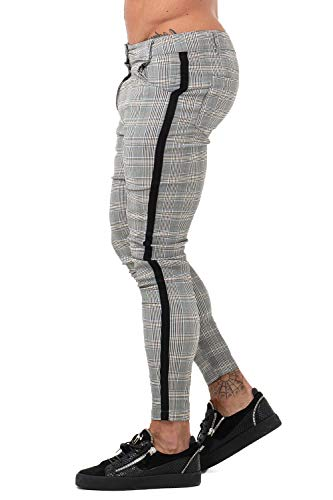 d4c9d4cedd3 1 · GINGTTO Mens Chinos Pants Skinny Stretch Tapered Trousers Men Casual  Slacks Slim Fit Grey