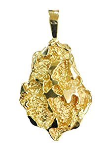 Amazon.com: 14Kt Yellow Gold Nugget Design Fashion Charm