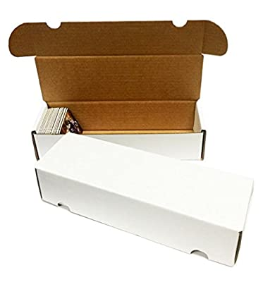 (50) 550 Count Corrugated Cardboard Storage Boxes by Max Pro for Baseball, Football, Basketball, Hockey, Nascar, Sportscards, Gaming & Trading Cards Collecting Supplies