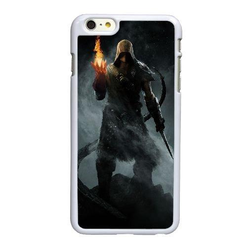 Elder Scrolls Skyrim H8R47 v W0N8EG coque iPhone 6 Plus de 5,5 pouces cas de téléphone portable couverture de coque blanche KL1LDR2BD