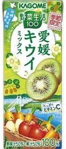 カゴメ 野菜生活 愛媛キウイミックス (紙) 195ml×24入