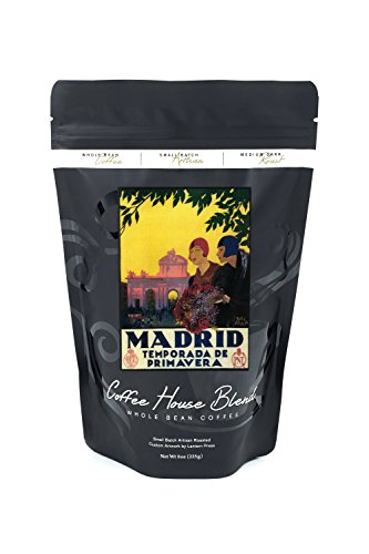 Madrid, Spain - Madrid in Springtime - Vintage Travel Advertisement (8oz Whole Bean Small Batch Artisan Coffee - Bold & Strong Medium Dark Roast w/ Artwork) by Lantern Press