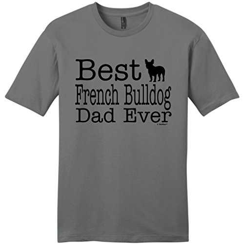 Dog Lover Gift Best French Bulldog Dad Ever Young Mens T-Shirt Large ()