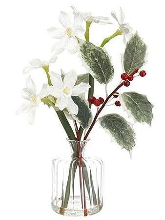 Amazon Silk Pre Made Paperwhite Narcissus Flower Arrangement In