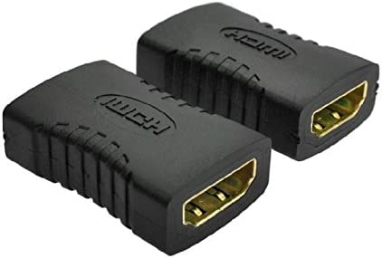 FixtureDisplays 2PK Gold-Plated High Speed HDMI Female Coupler 3D /& 4K Resolution-Ready Cable Connector 16894-NF