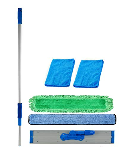 - Real Clean 48 inch Professional Commercial Microfiber Mop with Two 48