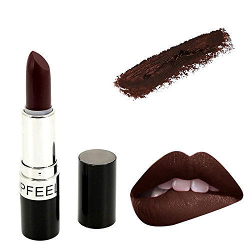 Matte Popfeel Lipstick Wear Waterproof Cosmetic Beauty Makeup Balm Long Lasting Lip Stick Red Rouge Batom B17