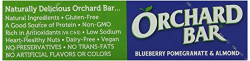 Orchard Bars Fruit and Nut Bar, Blueberry Pomegranate Almond, 1.4 Ounce (Pack of 12) by Orchard Bars (Image #6)