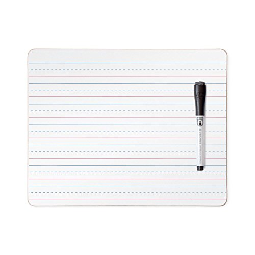 (U Brands Dry Erase Lap Board, Double Sided, Ruled and Plain, 9 x 12 Inches, Dry Erase Marker Included )