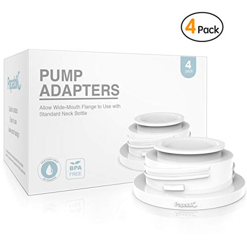 Papablic Leak-proof Pump Bottle Adapter, for Spectra S1 S2 Pump Flanges to Use with Medela Baby Bottles, 4 Pack by Papablic
