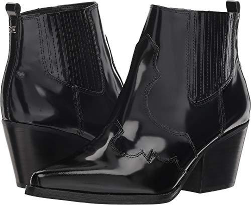 Brush Off Western Boot - Sam Edelman Women's Winona Black Brush Off Box Leather 9.5 M US M