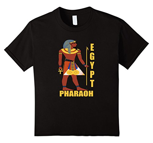 Make Ancient Egyptian Costume Boy (Kids Egyptian Pharaoh Costume Shirt For Theme Party or Halloween 8 Black)