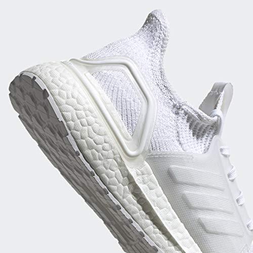 adidas Women's Ultraboost 19 Running Shoe, White/Grey/Black, 9 M US