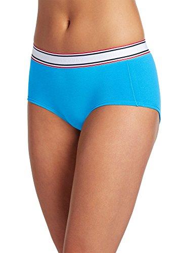 Jockey Women's Underwear Retro Stripe Hip Hugger, Blue Waters, - Retro Hip