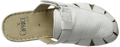 Caprice 27300, Sandalias con Cuña para Mujer Blanco (White Nappa)