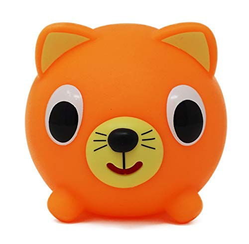 (Jabber Ball Sankyo Toys Squeeze and Play Sound Ball - Neon Orange)