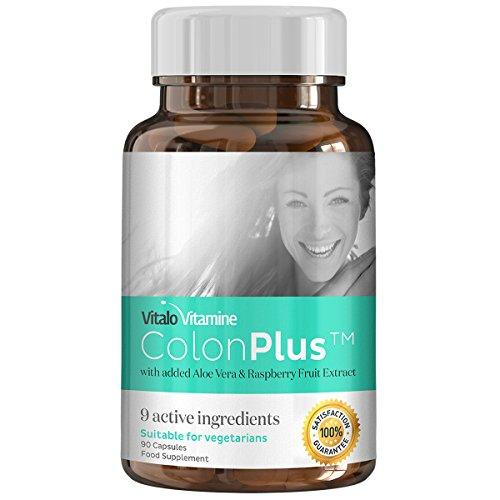 Colon Plus Detox Darmreiniger - 9 Aktive Wirkstoffe - Zur Unterstützung Ihrer Diät + Entgiftung + Darmreinigung + Entschlackung - 90 Kapseln - Auch Für Vegetarierer