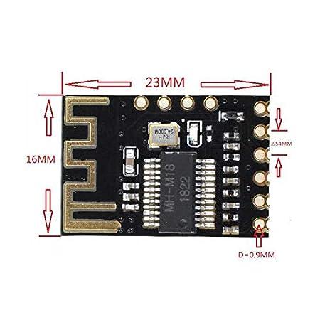 ZREAL Stereo-Ausgang Bluetooth-Audiomodul Universalmodul Receiver-Lautsprecherverst/ärker