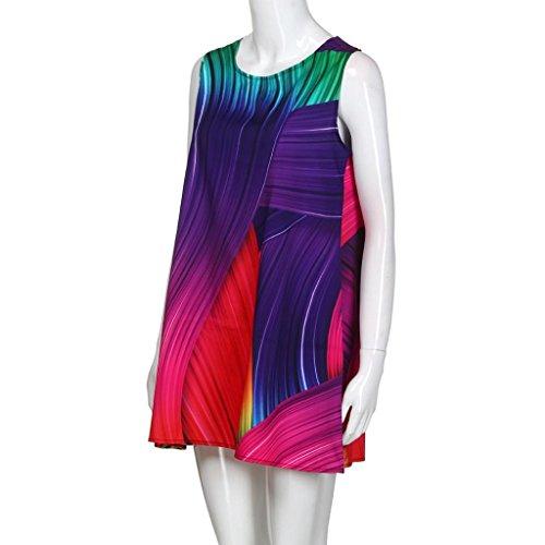 Manches Robe t Vintage Lache Tank Bohe Femme Imprimer 3D Mini Violet Sans Robe Floral HUHU833 Femmes Boho AY8ZAqE