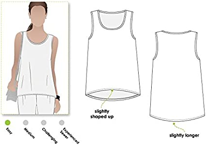 - Click for Other Sizes Available Style Arc Sewing Pattern Evie Knit Top Sizes 04-16