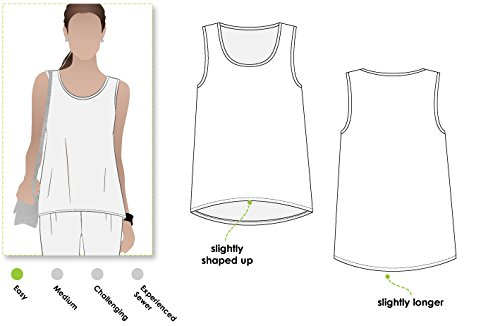 Style Arc Sewing Pattern - Evie Knit Top (Sizes 18-30) - Click for Other Sizes - Singlet Styles
